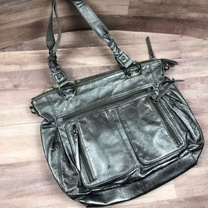 The Sak Silver Metallic Shoulder Bag